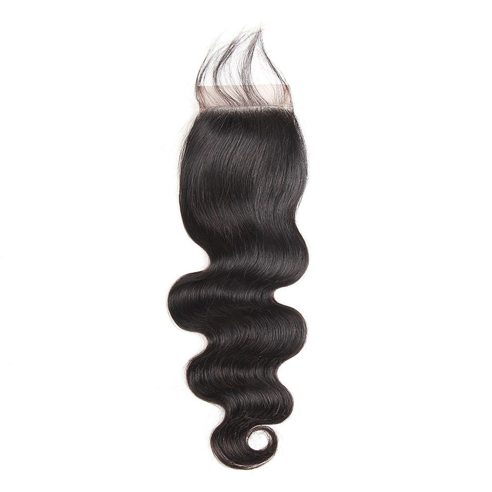 Brazilian Body Wave Lace Closure  Hair Natural Color