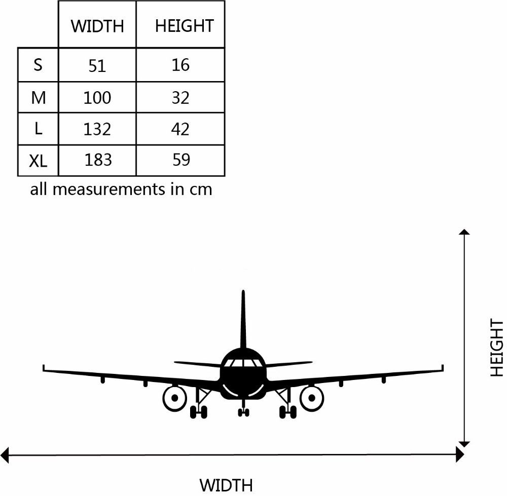 Airplane Vinyl Wall Sticker Airplane Wall Art Decal Decoration Vinyl Stickers Removable Airplane Wallpaper