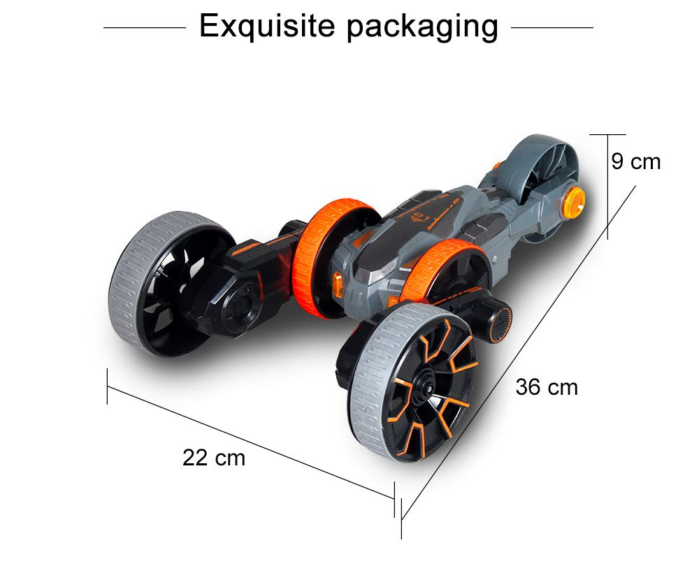 Attop Y6 Rechargeable Telecontrol Stunt Climbing Rotation Car with Five Wheel