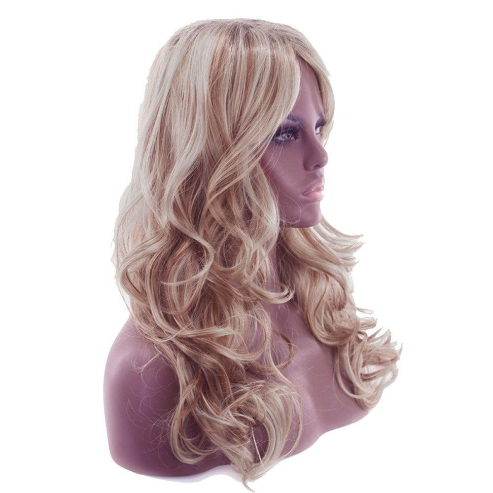 Ladies Fashion Partial Fluffy Long Curly Hair Wig