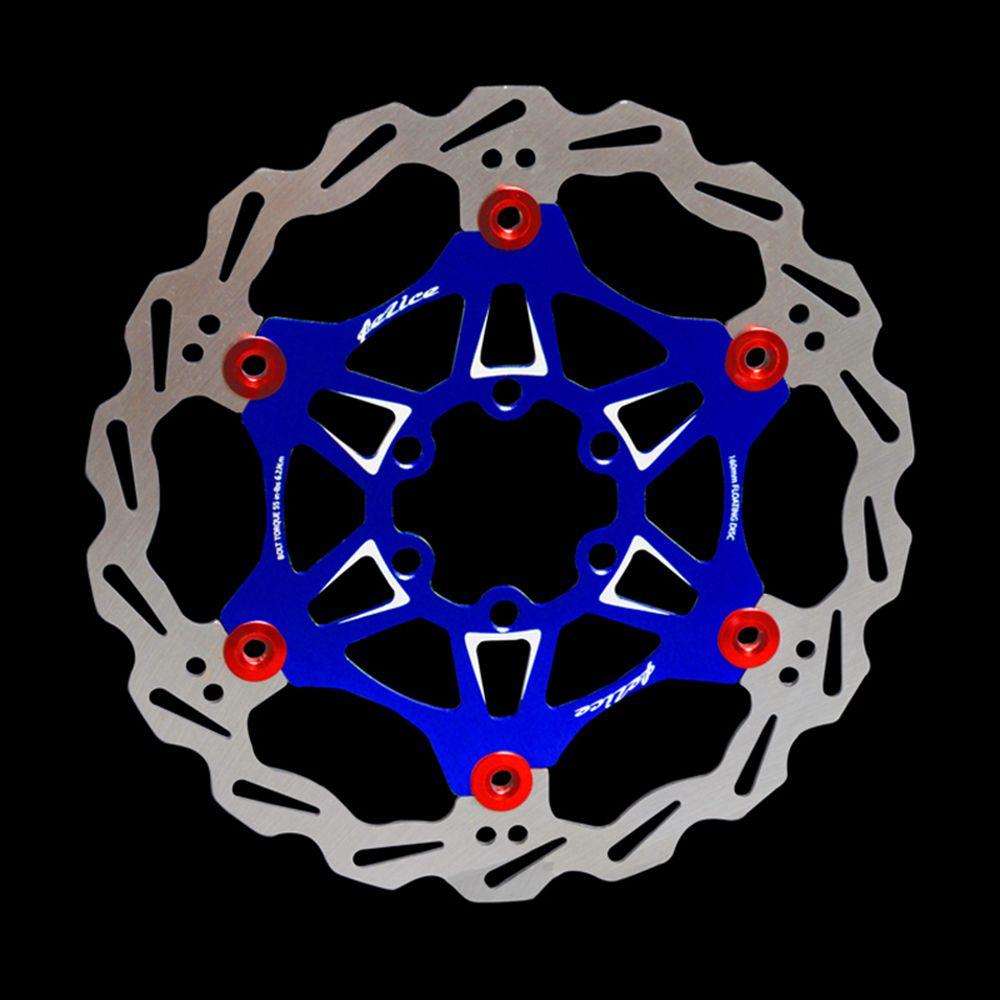 MTB DH 6 Nails 180mm Color Float Floating Disc Brake Rotor