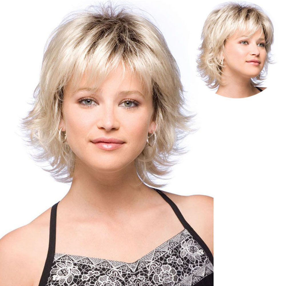 Ladies Short Fluffy Curly Hair Wigs