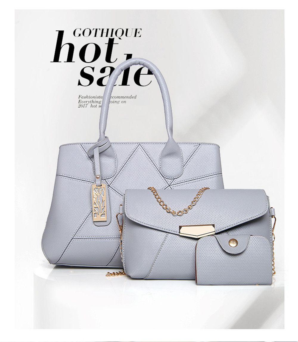 Three Sets of Large Messenger Handbags Ladies Fashion Shoulder Bag