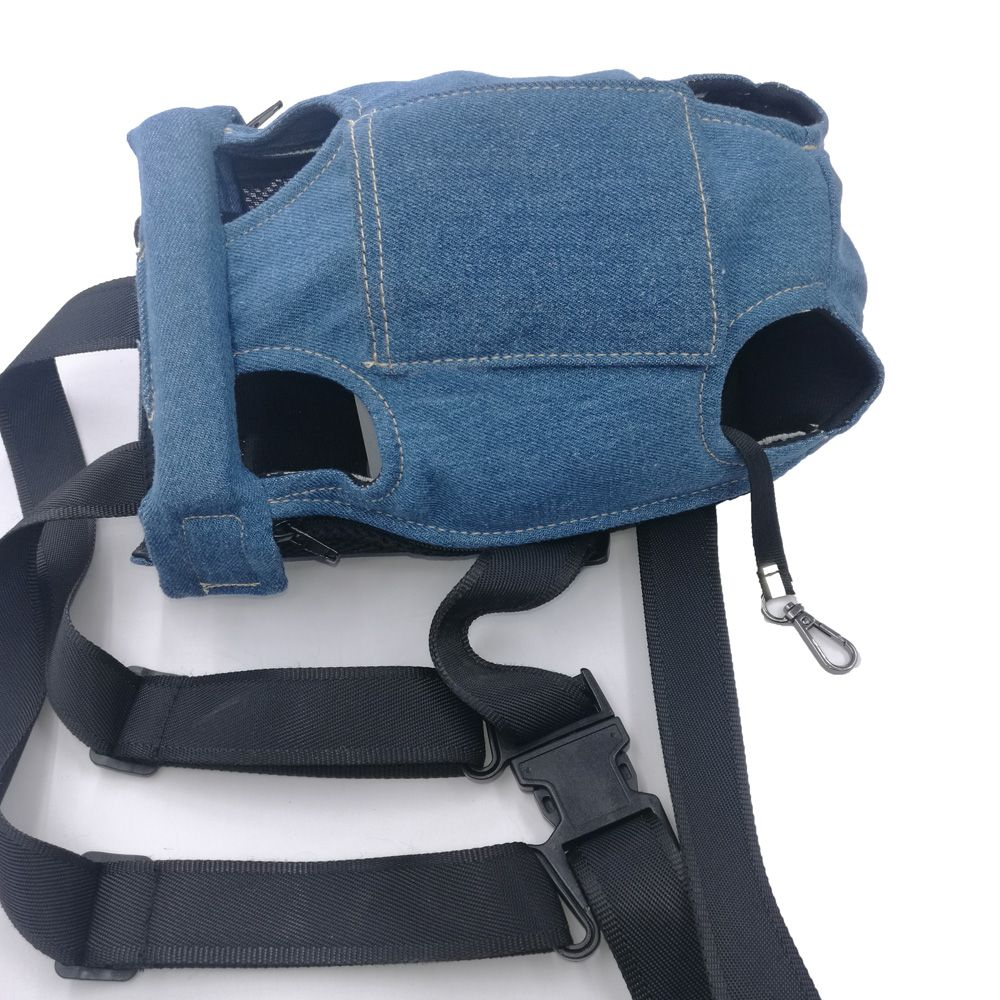 Lovoyager LVC0103 The New Style of Dog Fashion Denim Chest Knapsack