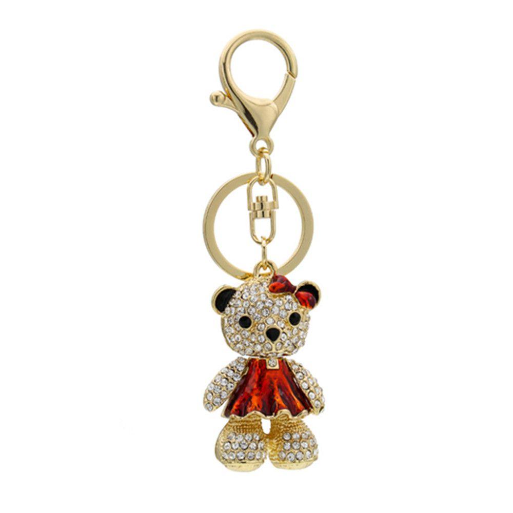 Cute Little Bear Keychain Animal Keyring Car Bag Accessory