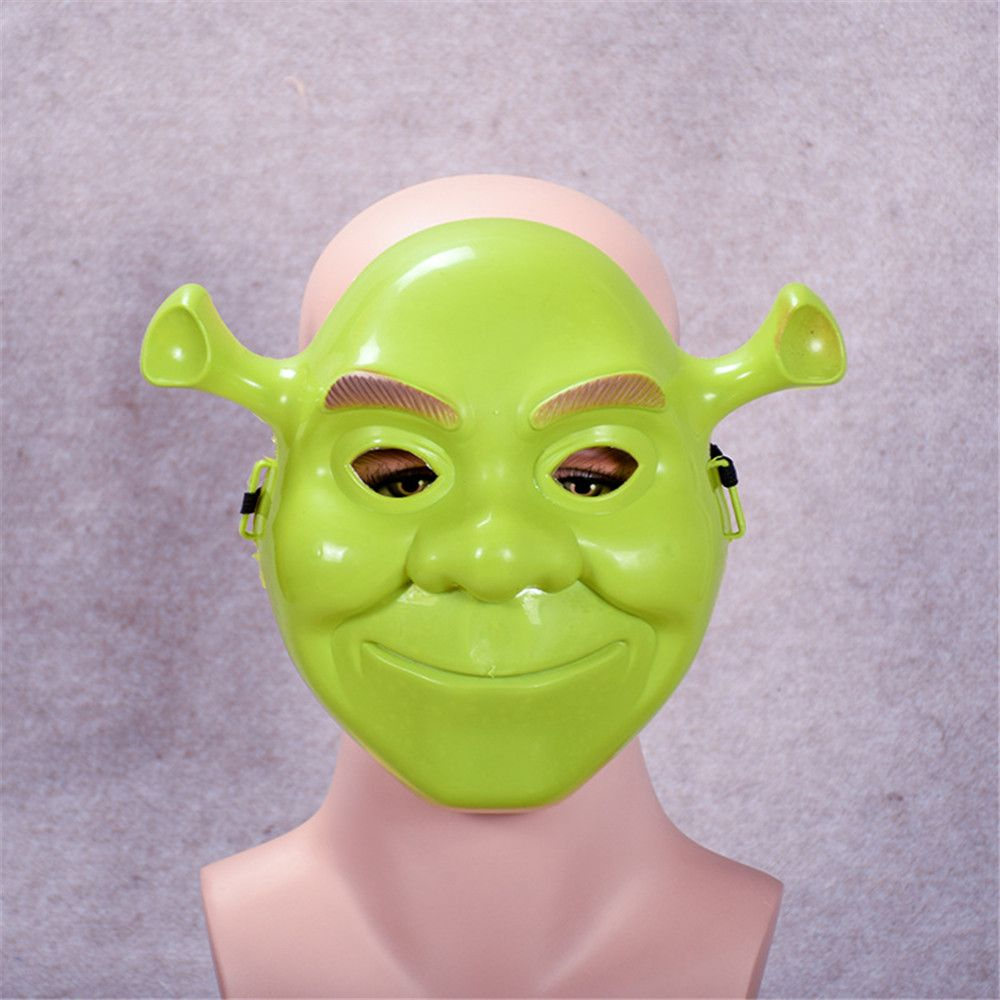 Green Shrek Latex Masks Movie Cosplay Prop Adult Animal Party Mask for Halloween