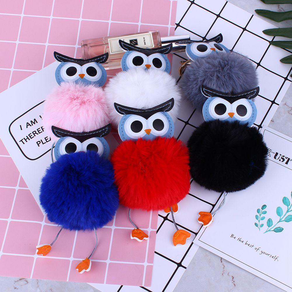Owl Styling Fur Flocculus Keychain