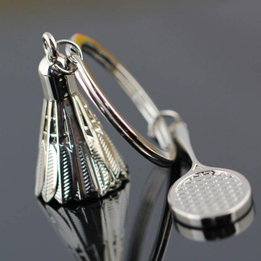 Fashion Classic 3D Sports Badminton Keyring Key Chain Ring Keyfob