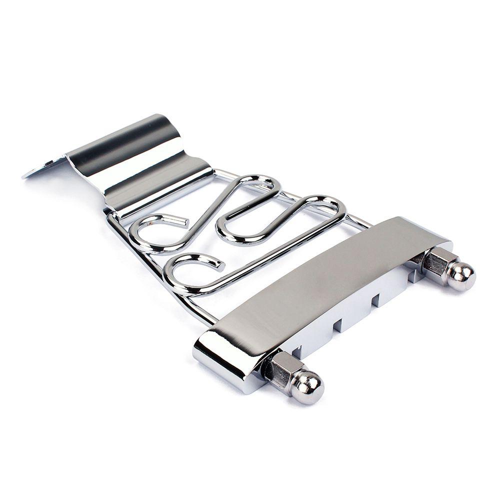 Archtop Jazz Trapeze Short 4 String Tailpiece Electric Guitar Bridge