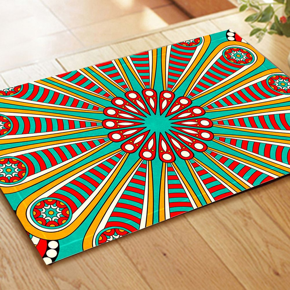 Colourful  Antique Lines  Auspicious Rug Mats