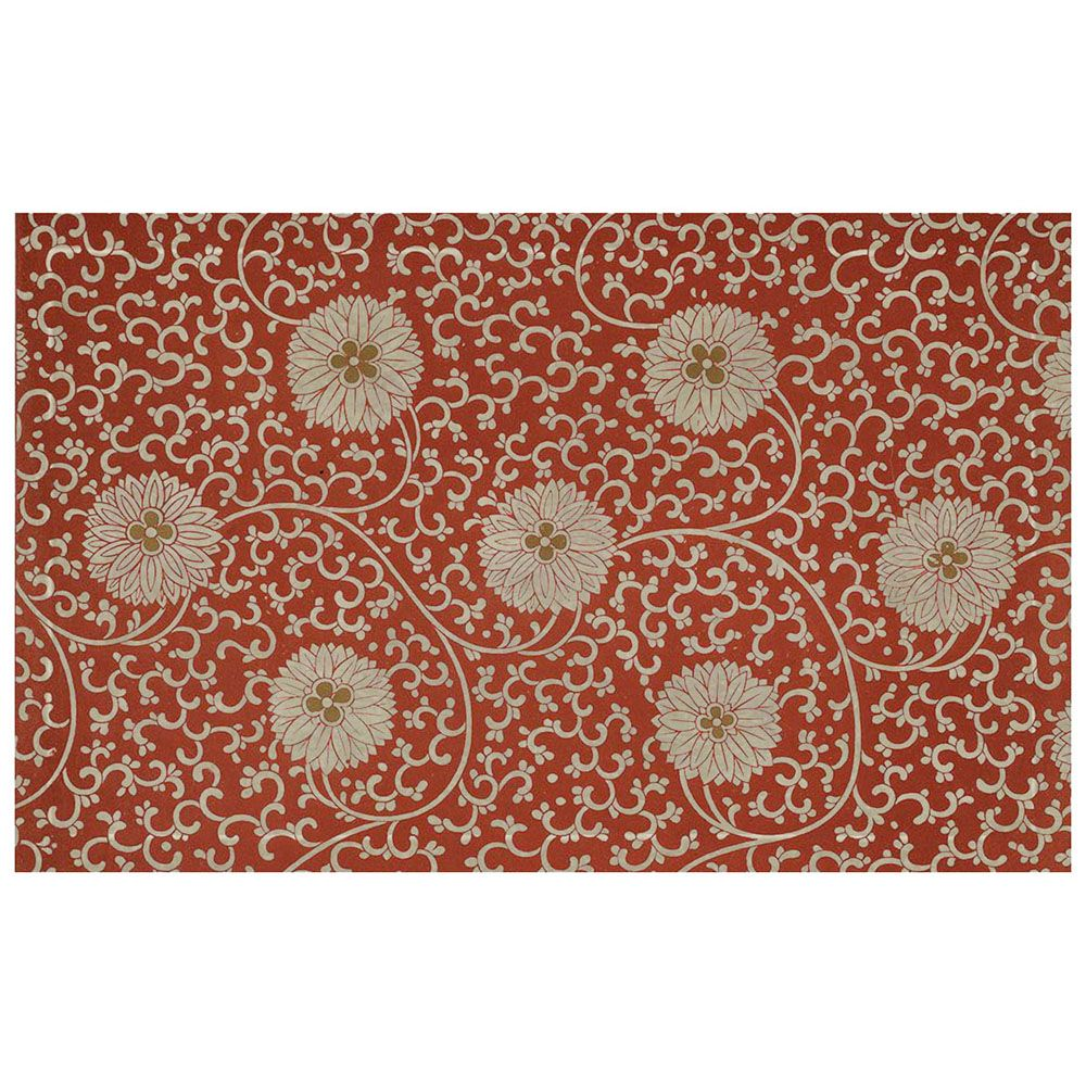 Chinese Antique Hydrangea Pattern Flannel Carpet Pads