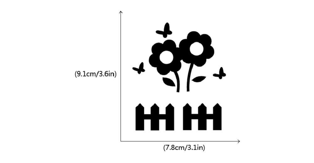 DSU  Beautiful Flower Switch Sticker Natural Style Plant Vinyl Wall Sticker for Kids Room