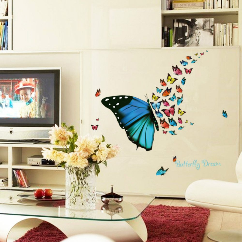 2018 3D Butterfly Wallpaper for Living Room Home Decoration COLOUR ...