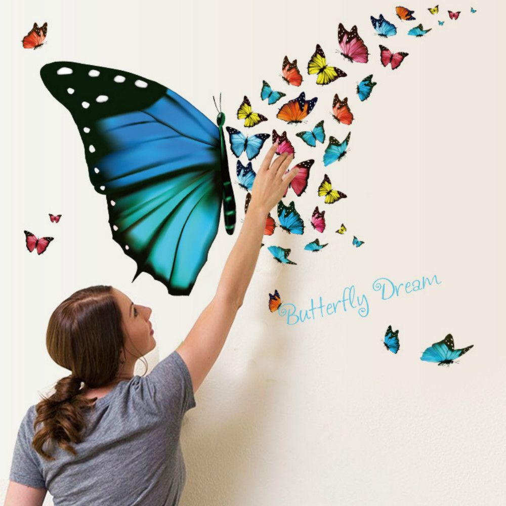 2018 3d butterfly wallpaper for living room home decoration colour