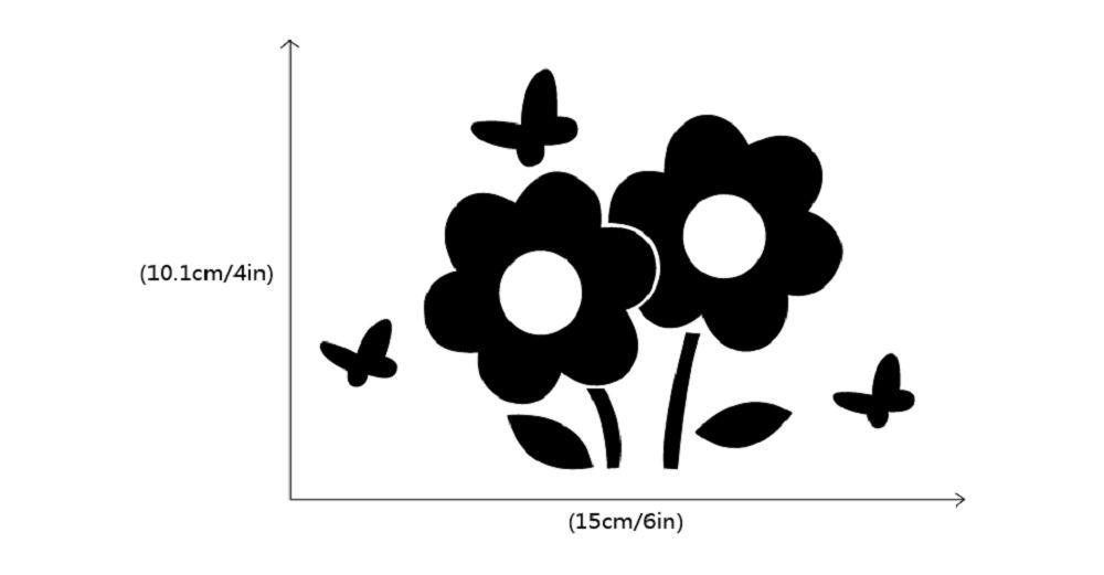 DSU Lovely Flowers Switch Sticker Cartoon Plant Vinyl Wall Sticker for Kids Room Decal