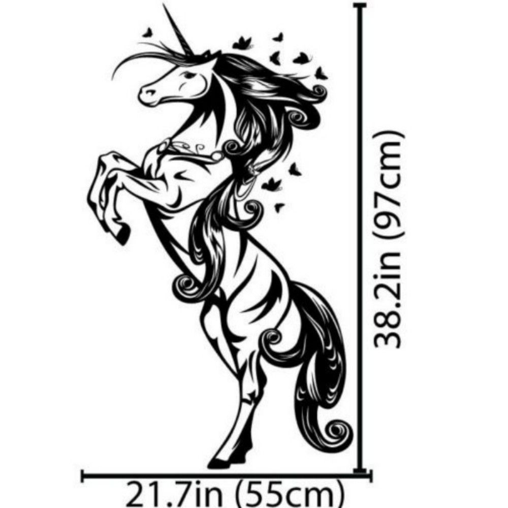 Cartoon Horse Nursery Girls Bedroom Wall Decal Sticker Art Vinyl Wall Stickers For Kids Room Living Room Vinilos Paredes