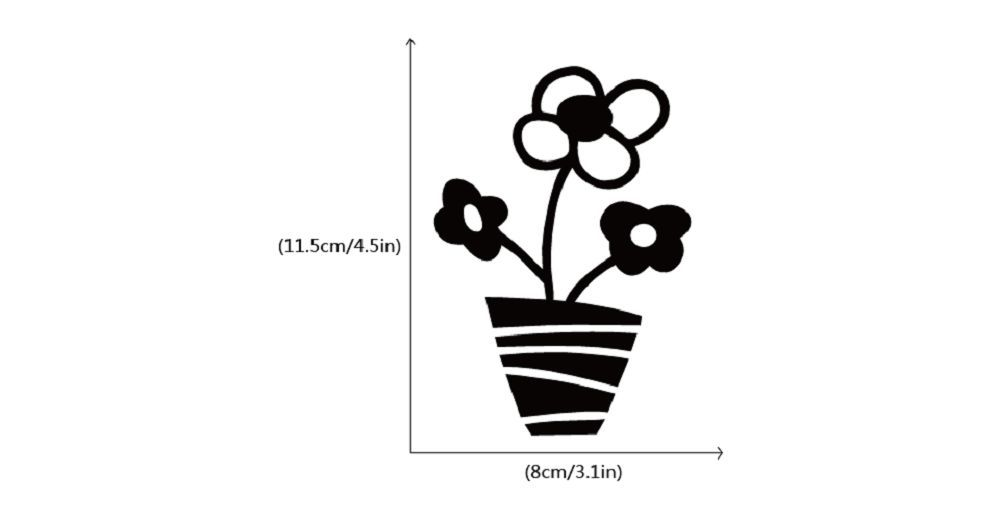 DSU Small Potted Flowers Switch Sticker Cartoon Plant Vinyl Wall Sticker for Kids Room