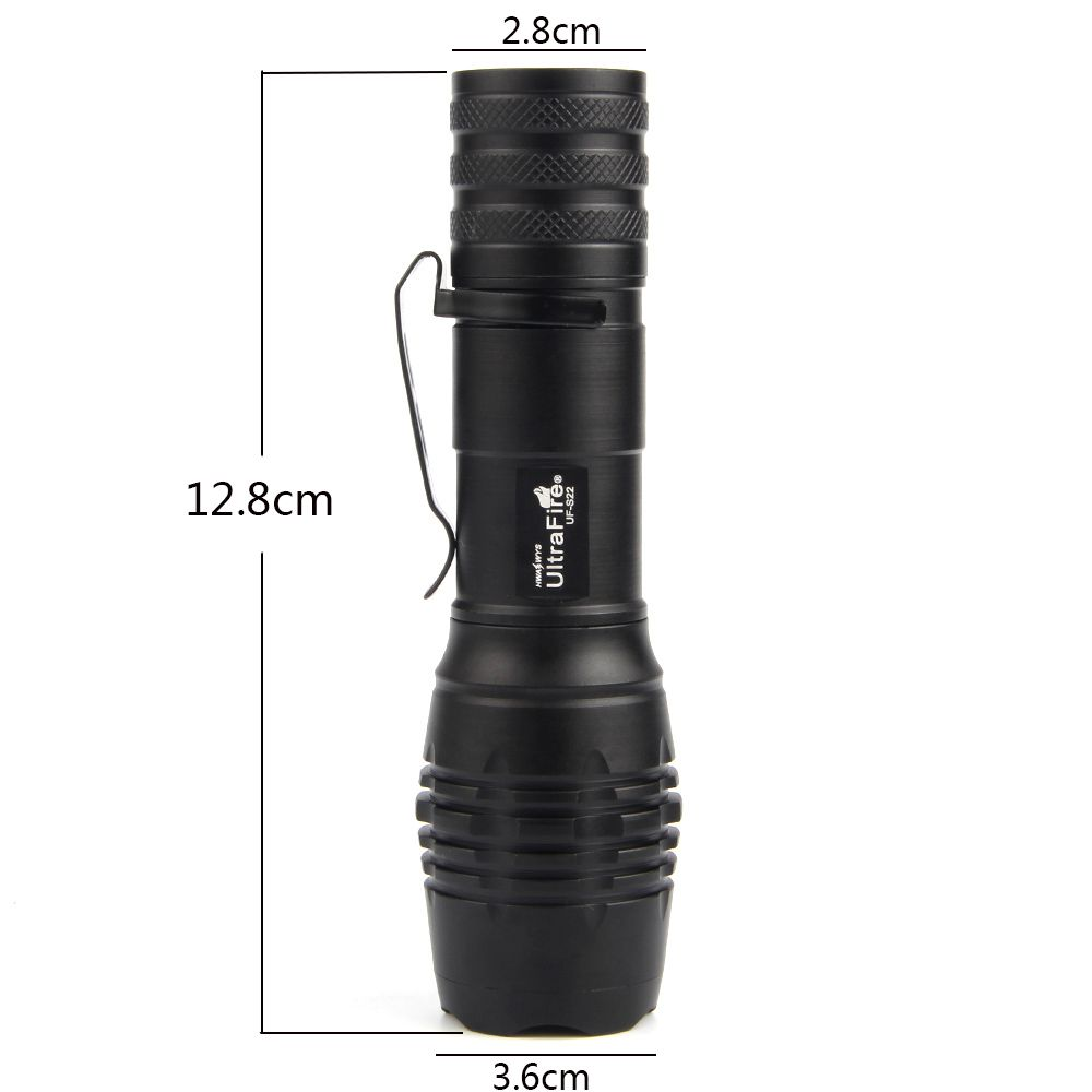 UltraFire UF-S22 XML-T6 680LM 5-Position Telescopic Focusing Flashlight