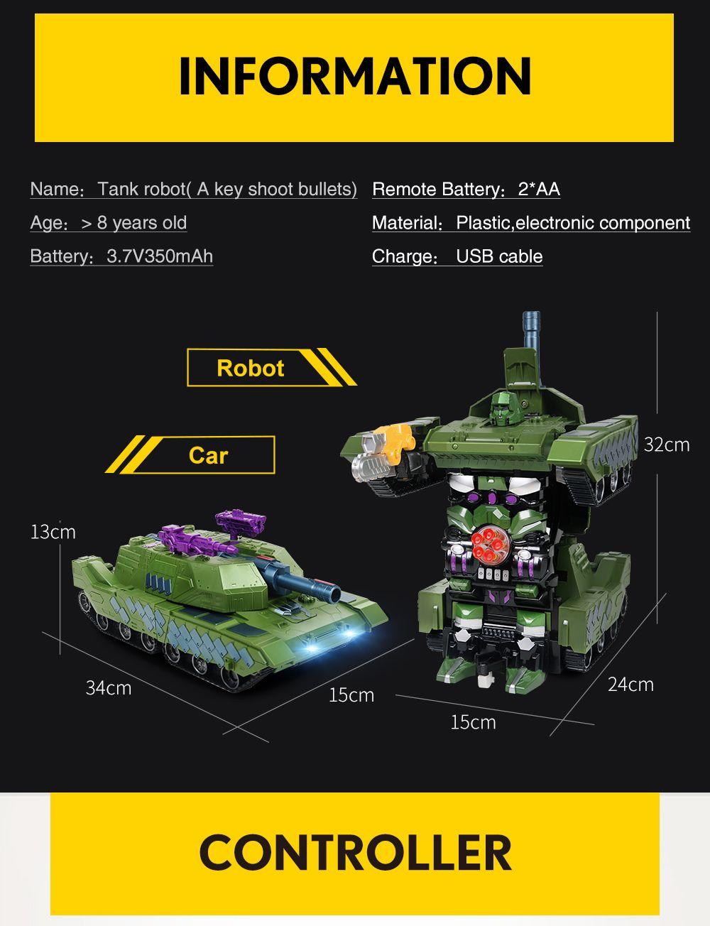 Gougoushou Transformation Tank Charging Type Remote Control Car