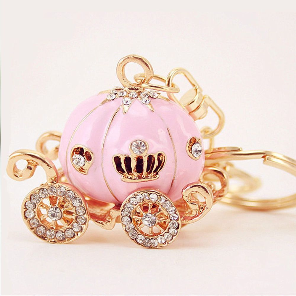 Pumpkin Car Male and Female Key Chain