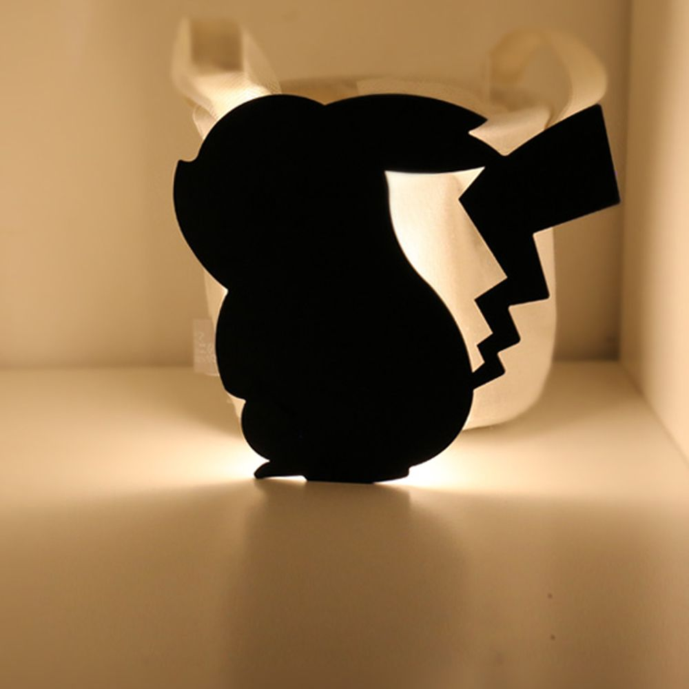 Optically controlled Sound Control Pikachu  Night Light Shadow LED Projection Lamp