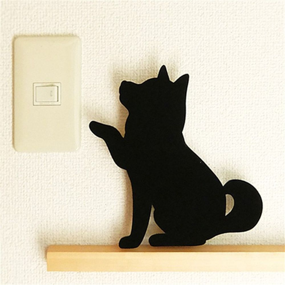 Optically controlled Sound Control Wave Dog  Night Light Shadow LED Projection Lamp