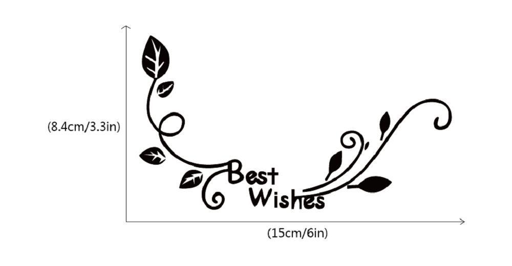 DSU  Best Wishes Flower Switch Sticker Natural Style Flower Wall Sticker for Bedroom Decor