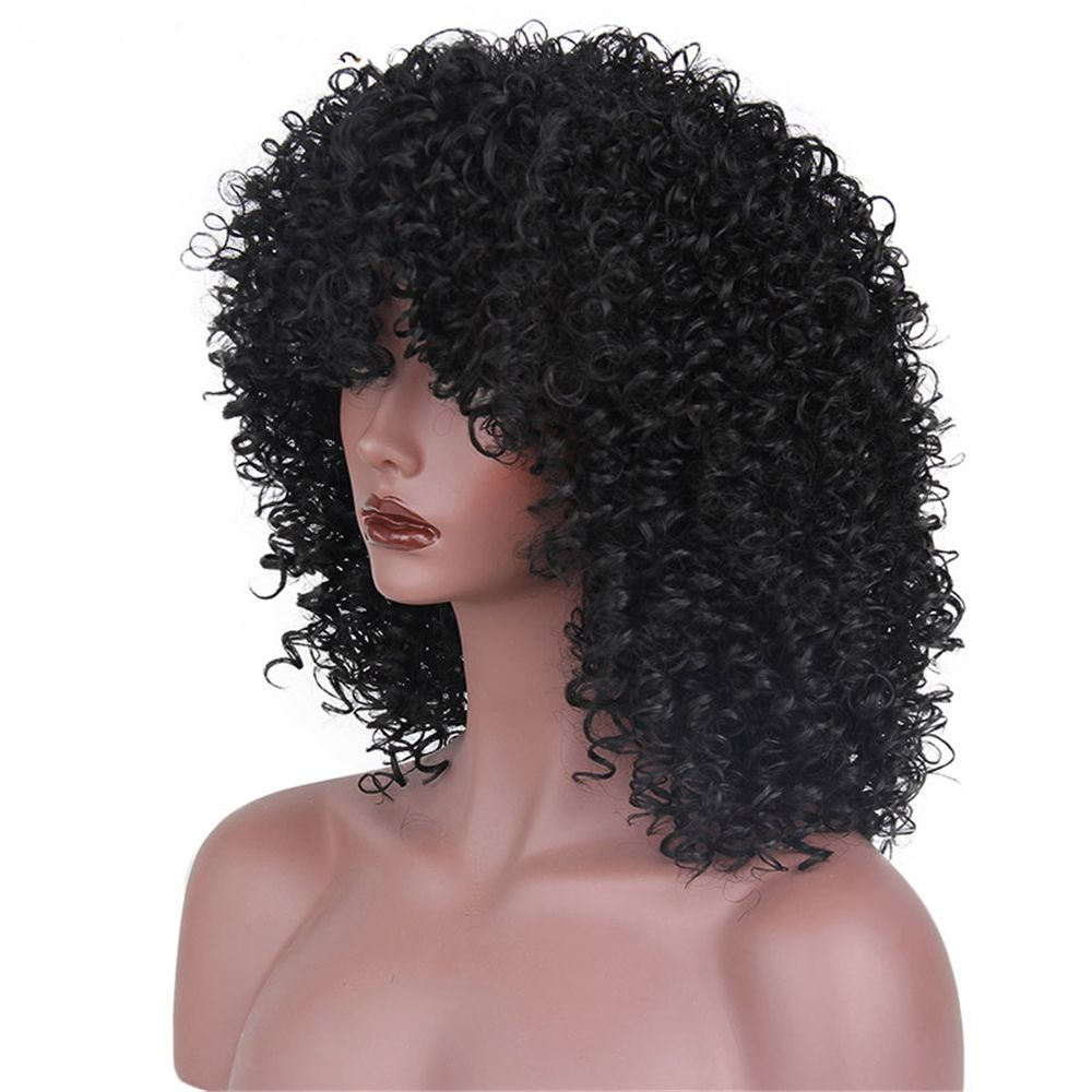 CHICSHE Synthetic Afro Kinky Curly Wigs for Black Women African American Heat Resistant Long Hair