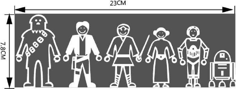 Six Cartoon People Figure Vinyl Wall Sticker Car Decals