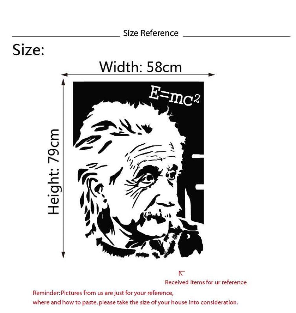 Albert Einstein Figure Vinyl Wall Sticker Famous Scientist Vinyl Decals for Kids Room