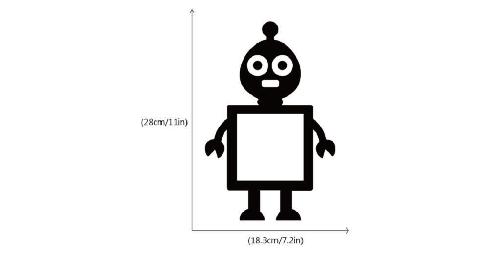 DSU Cute Toy Alien Surround Light Switch Sticker Creative Cartoon Robot Vinyl Wall Decal