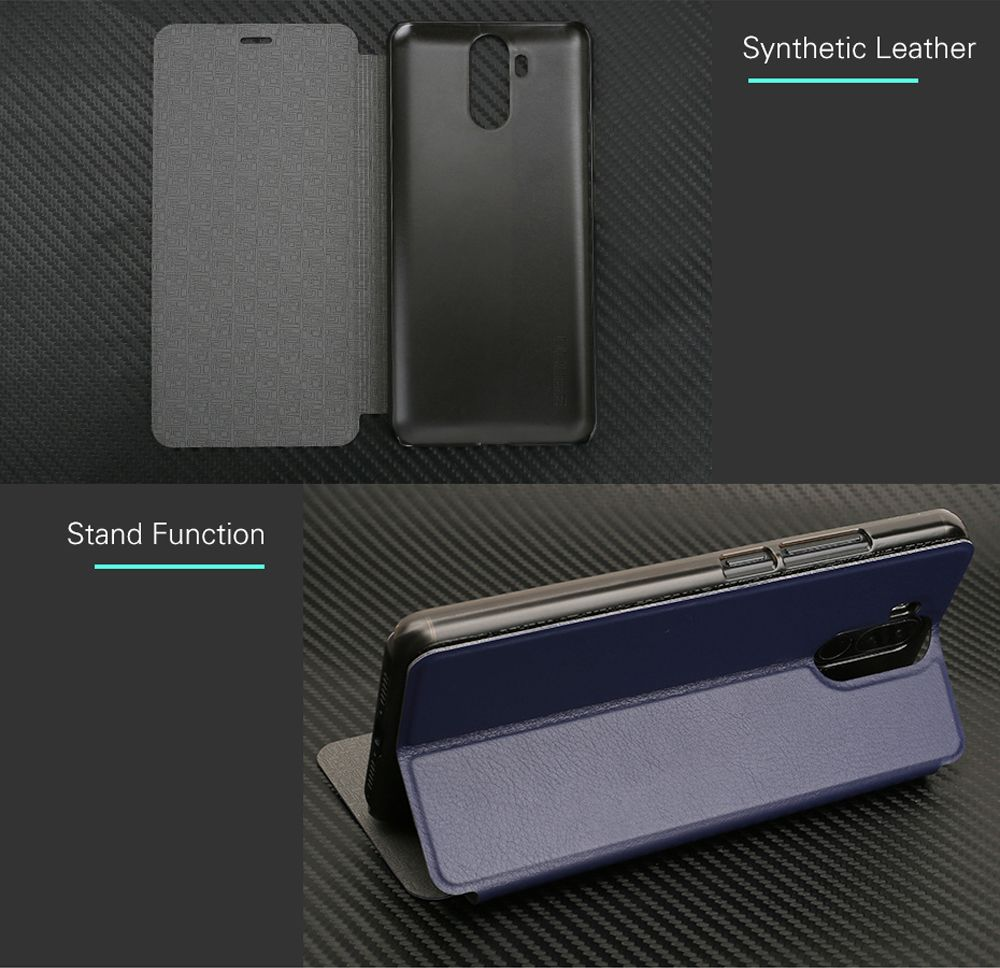 OCUBE Flip Folio Stand Up Holder PU Leather Case Cover for Ulefone Power 3 Cellphone