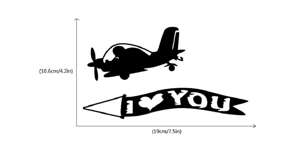 DSU  Creative Love Aircraft Switch Sticker Cartoon Vinyl Wall Sticker Home Decor