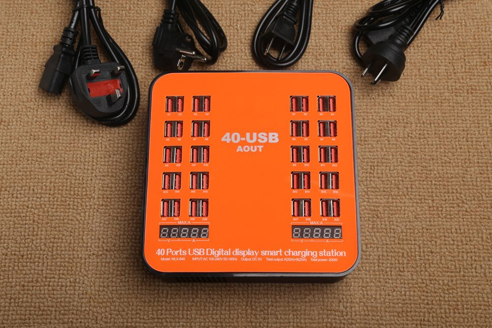 840 USB Multi-port Charger for 8 Pin Multi-function Rechargeable LCD Dynamic Display 150W High Power