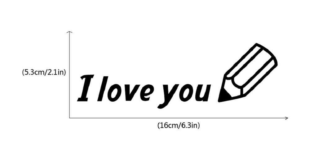 DSU  I Love You Switch Sticker Creative Text Vinyl Wall Sticker Home Decor