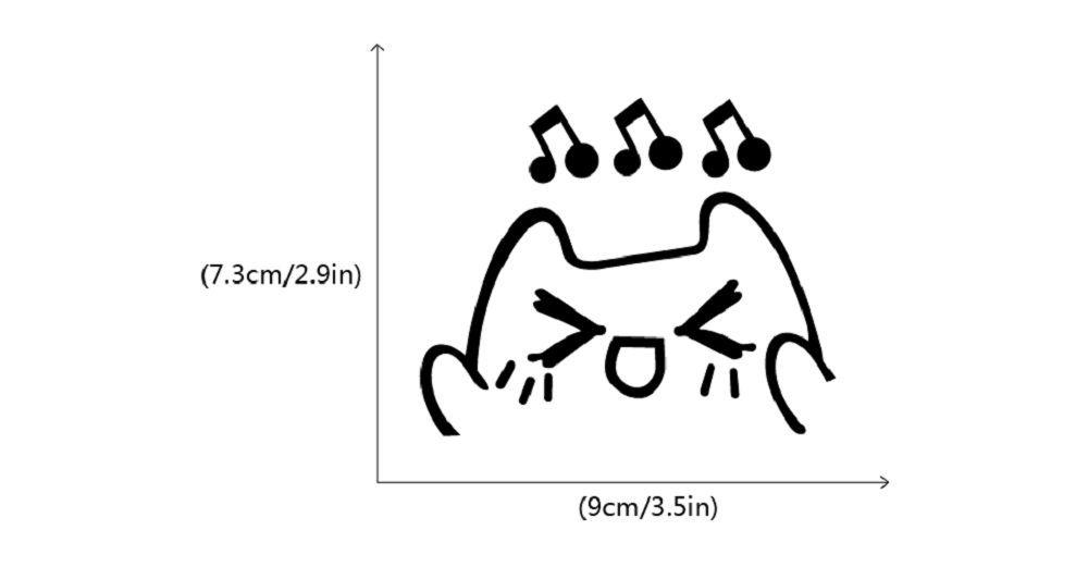 DSU Lovely Cat Singing Switch Sticker Funny Cartoon Animal Vinyl Wall Sticker