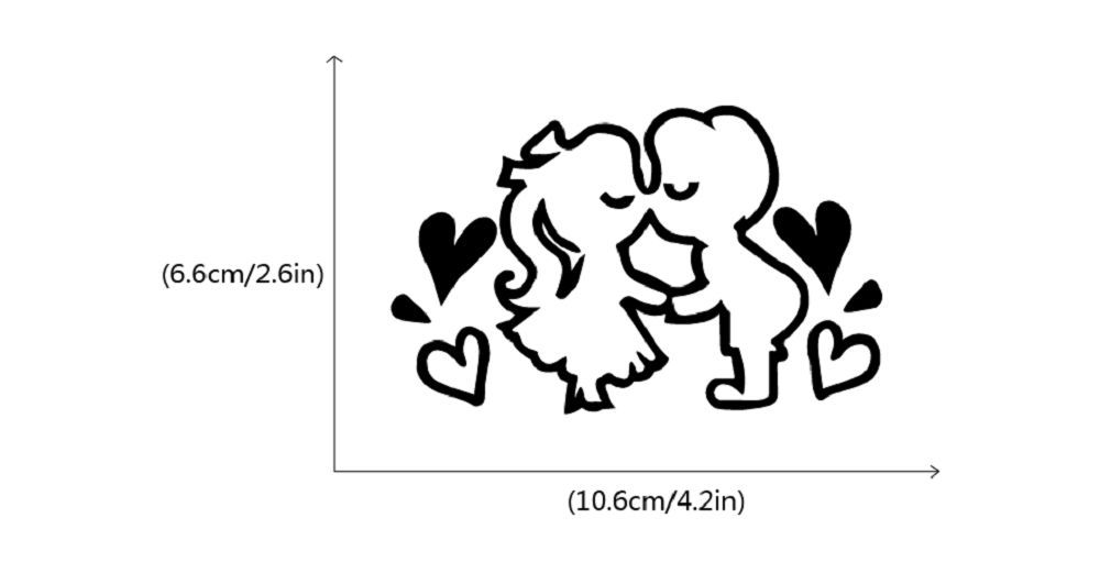 DSU  Romantic Kissing Lover Light Switch Sticker Creative Cartoon Couple Vinyl Wall Decal