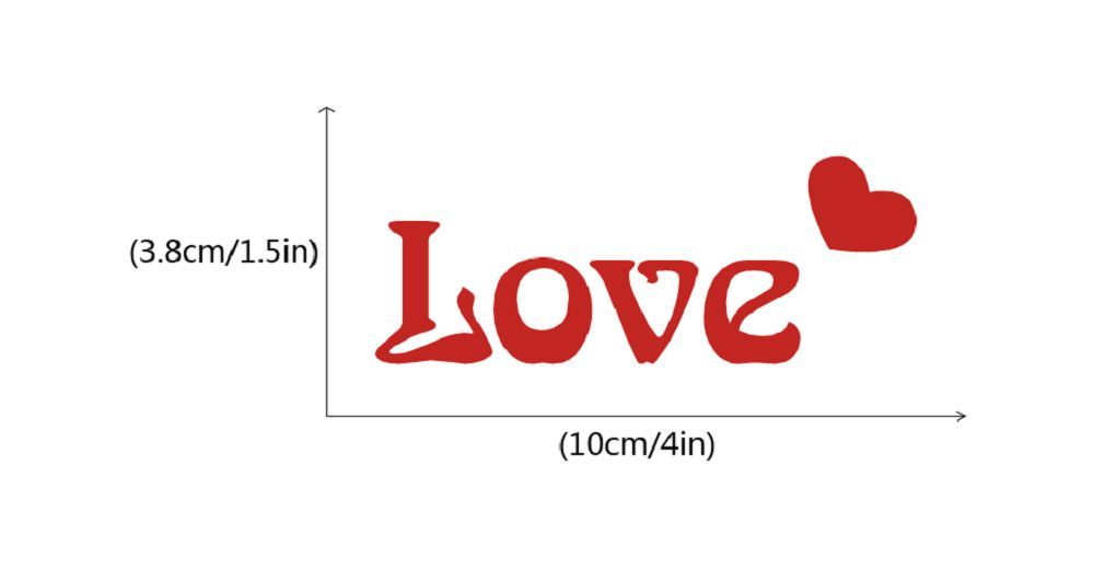 DSU  Romantic Love Vinyl Switch Sticker for Bedroom Wedding Room Home Decor