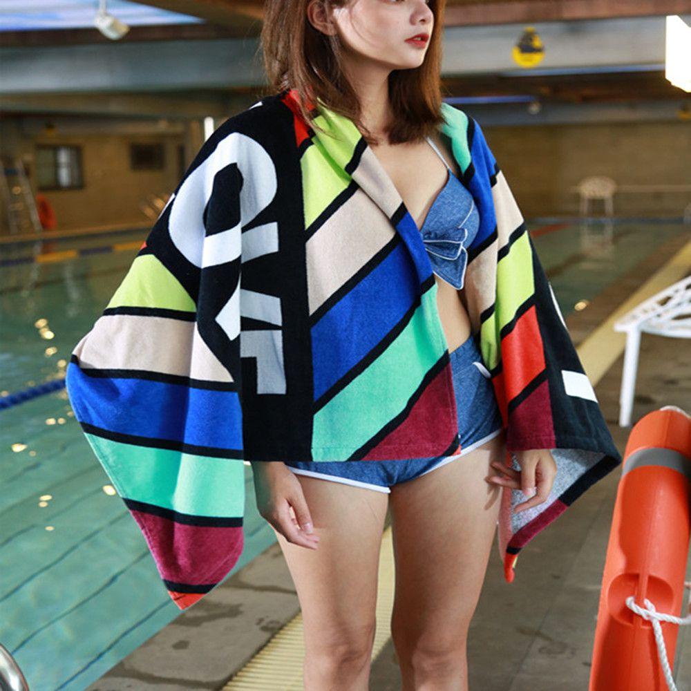 Cotton Stripes Printing Beach Towel