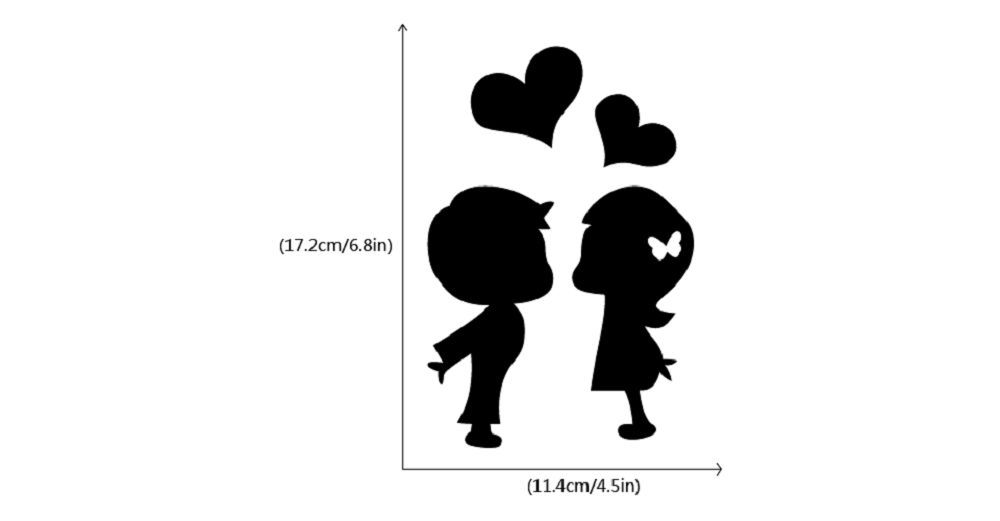 DSU Romantic Lover Light Switch Sticker Creative Cartoon Silhouette Vinyl Wall Sticker