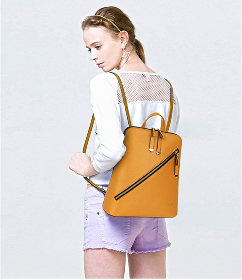 Double Back Portable Shoulder Messenger Six-Piece Ladies Bag
