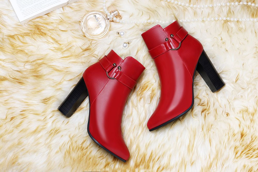 Pointed High Heel Plus Fleece and Short Boots