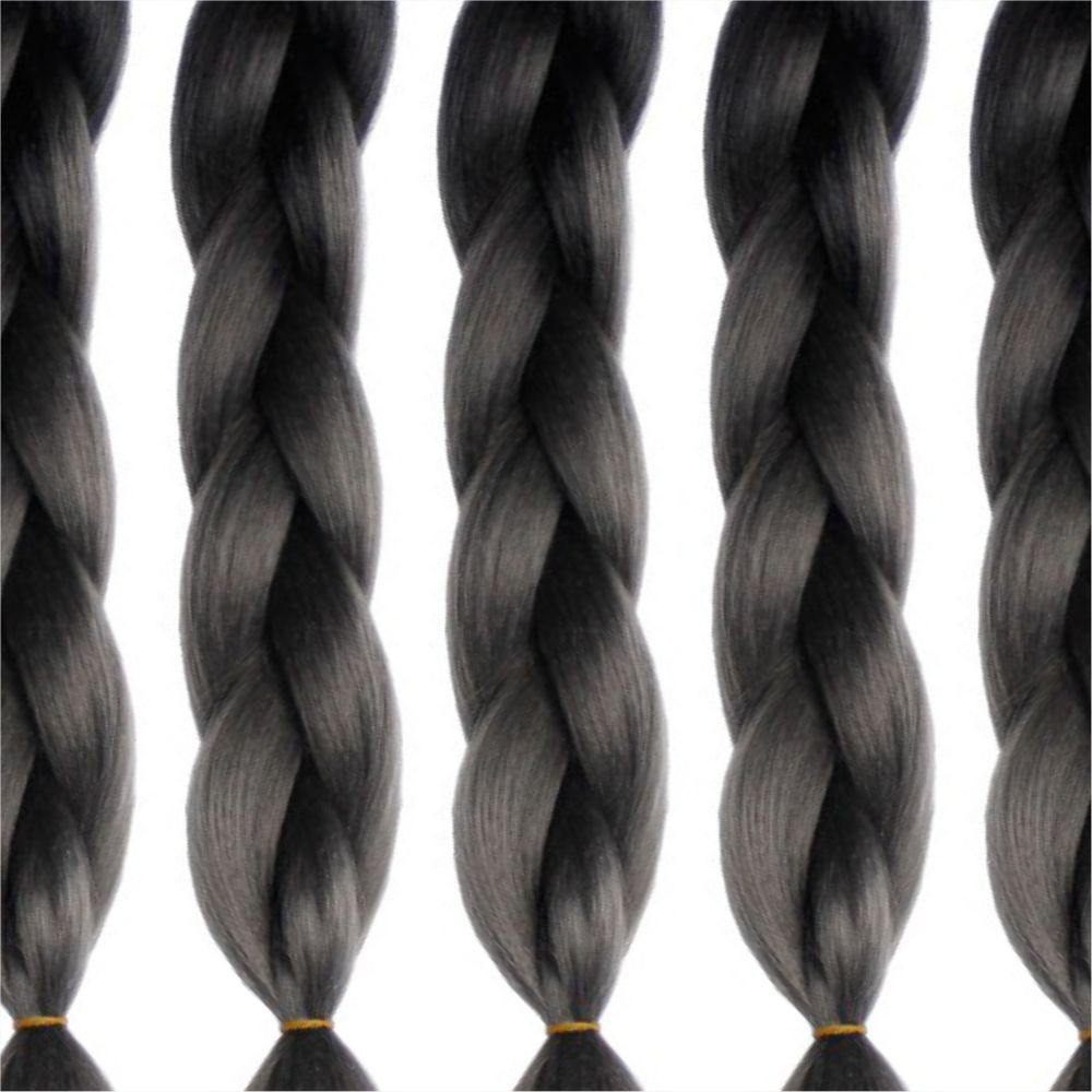 5PCS Gradient Jumbo Braiding Hair Extensions 24 inch Crochet Braids High Temperature Kanekalon Synthetic Fiber Twist