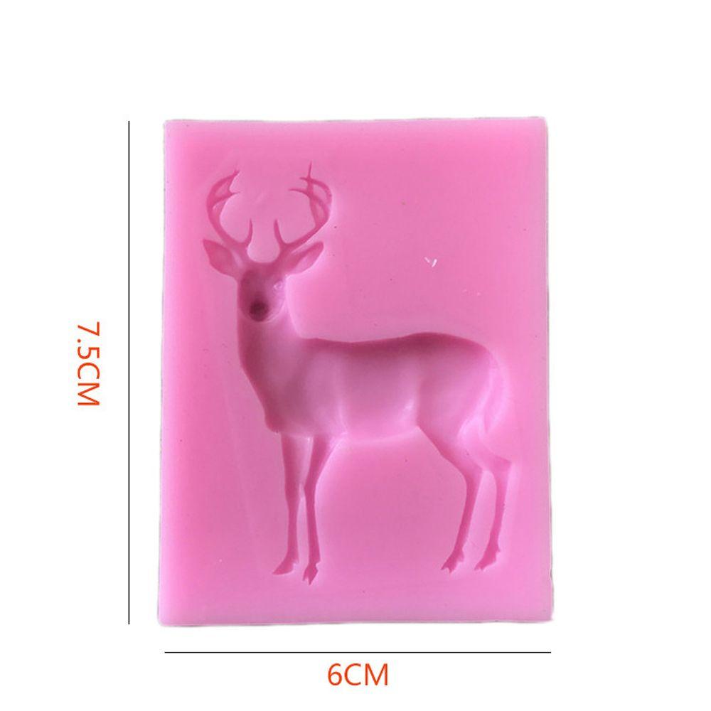 2 Pcs Silicone Molds Reindeer Form Christmas Deer Sugar Fondant Cake Decorating Mold Gumpaste Chocolate Kitchen Baking