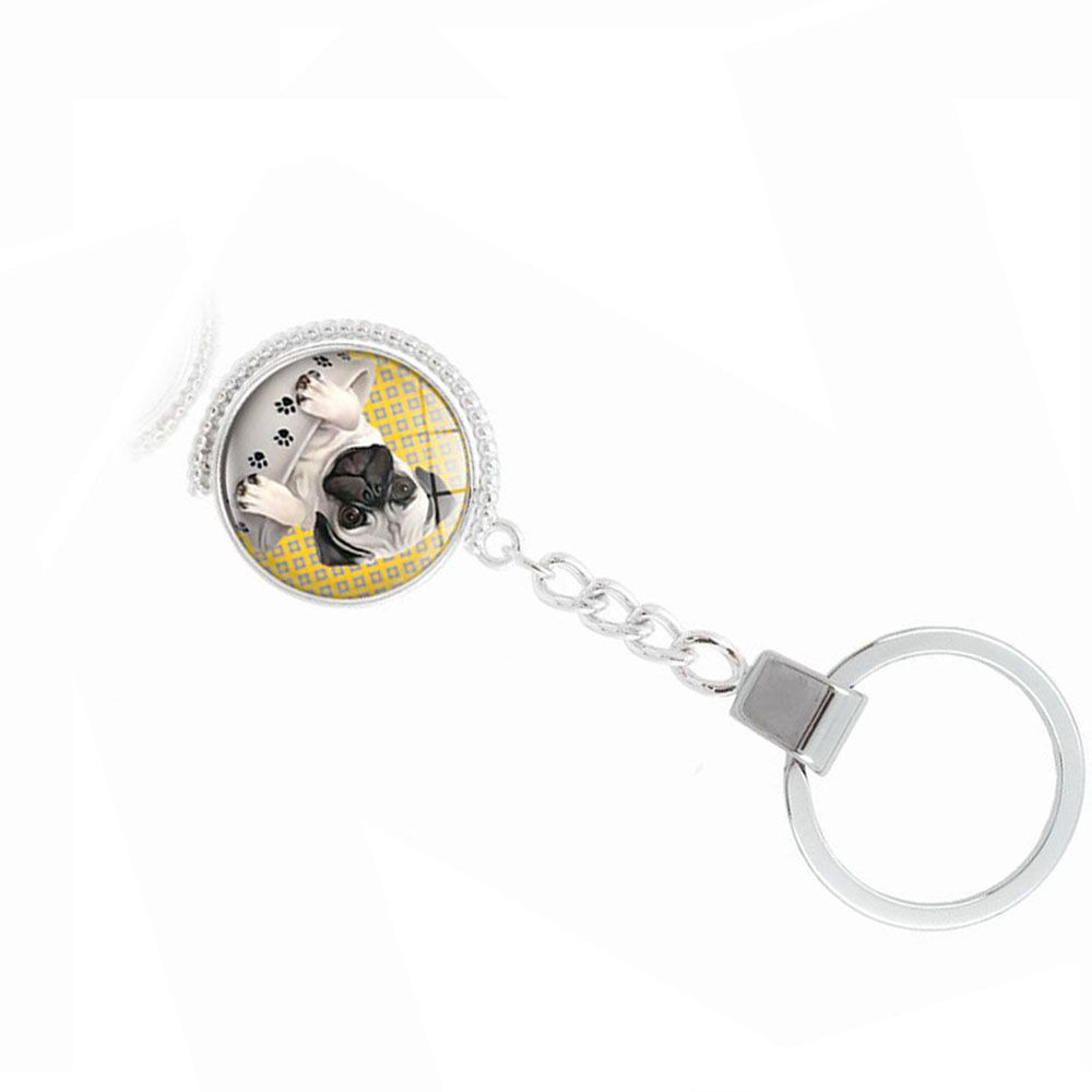Teacup Pug Double-Sided Key Chain
