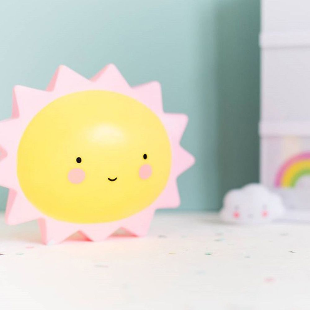 Cartoon Lovely Sun Shape Children Sleeping Bedroom Night Light