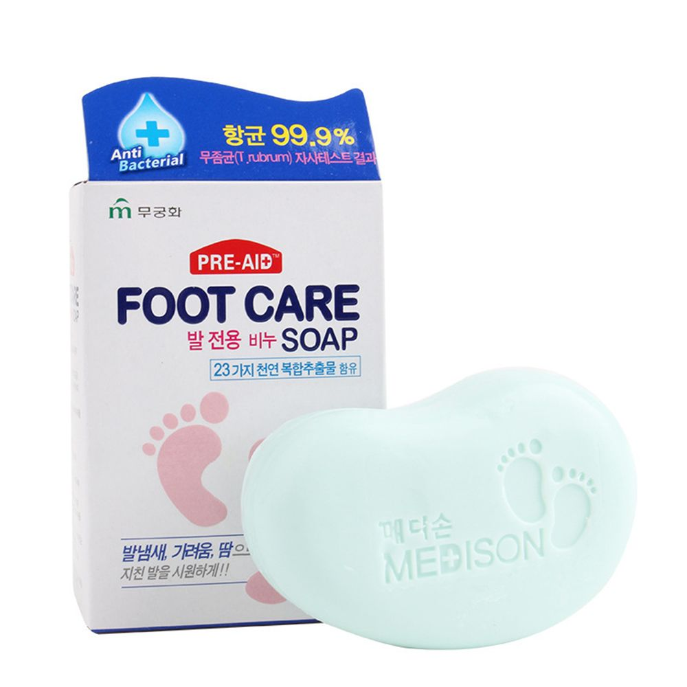 2 Pcs Bath Washing Feet Soap Foot Care Dispense to Remove Antiseptic Psoriasis and Deodorize