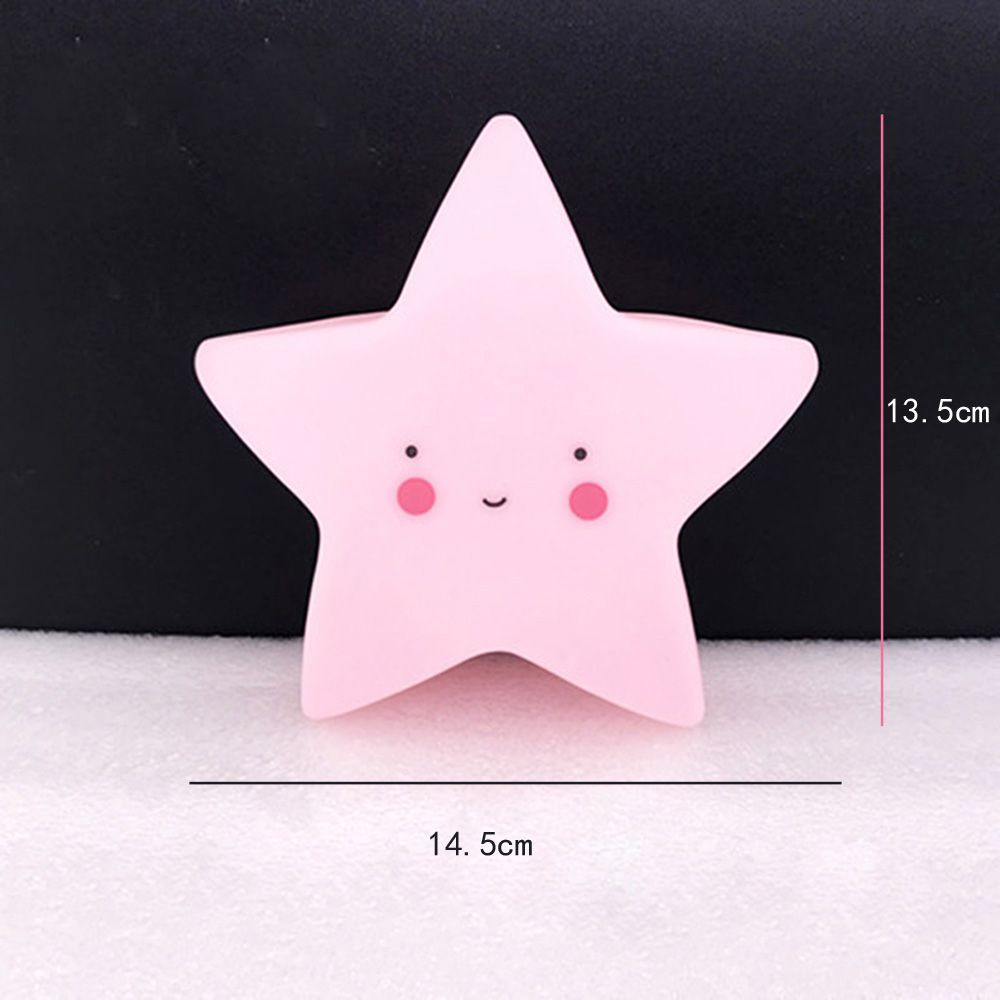 Cartoon Lovely Pink Star Shape Children Sleeping Bedroom LED Night Light