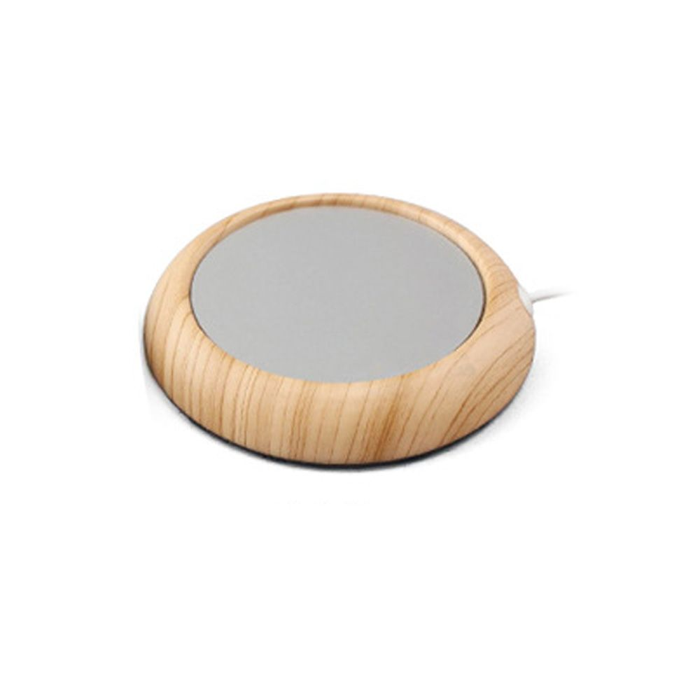 USB Charging Metal Wooden Cup Heating Cushion