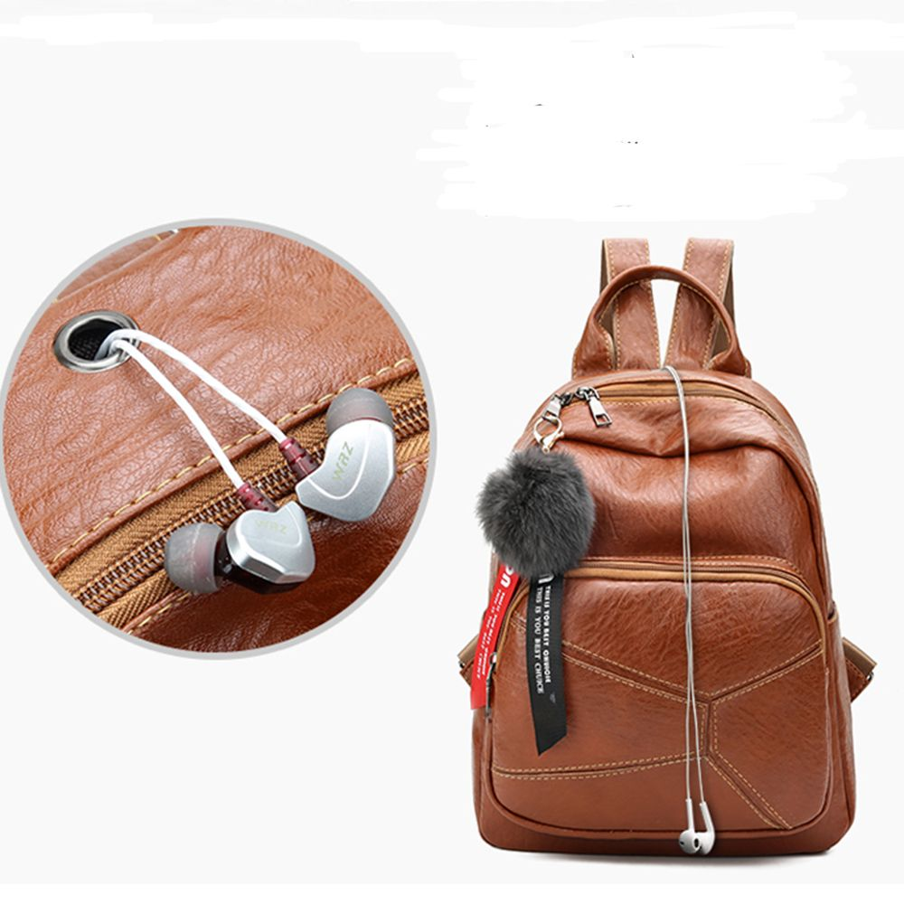 Backpack Wild Soft Leather High-Capacity Travel Bag